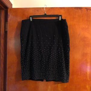 White House Black Market studded skirt size 12